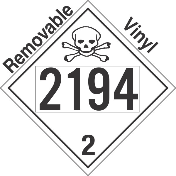 Toxic Gas Class 2.3 UN2194 Removable Vinyl DOT Placard