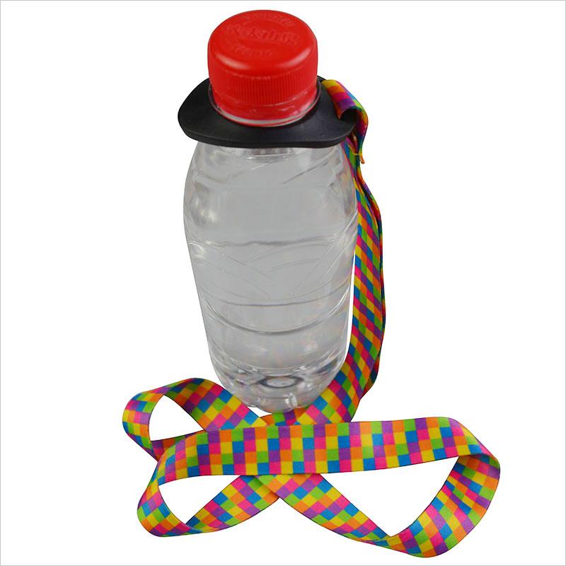 Water bottle holder with shoulder strap