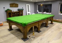 Full size snooker table Riley Viceroy set up in