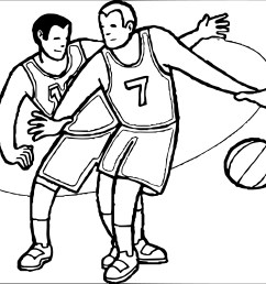 playing basketball clipart black and white [ 2506 x 2168 Pixel ]