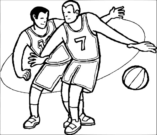 small resolution of playing basketball clipart black and white