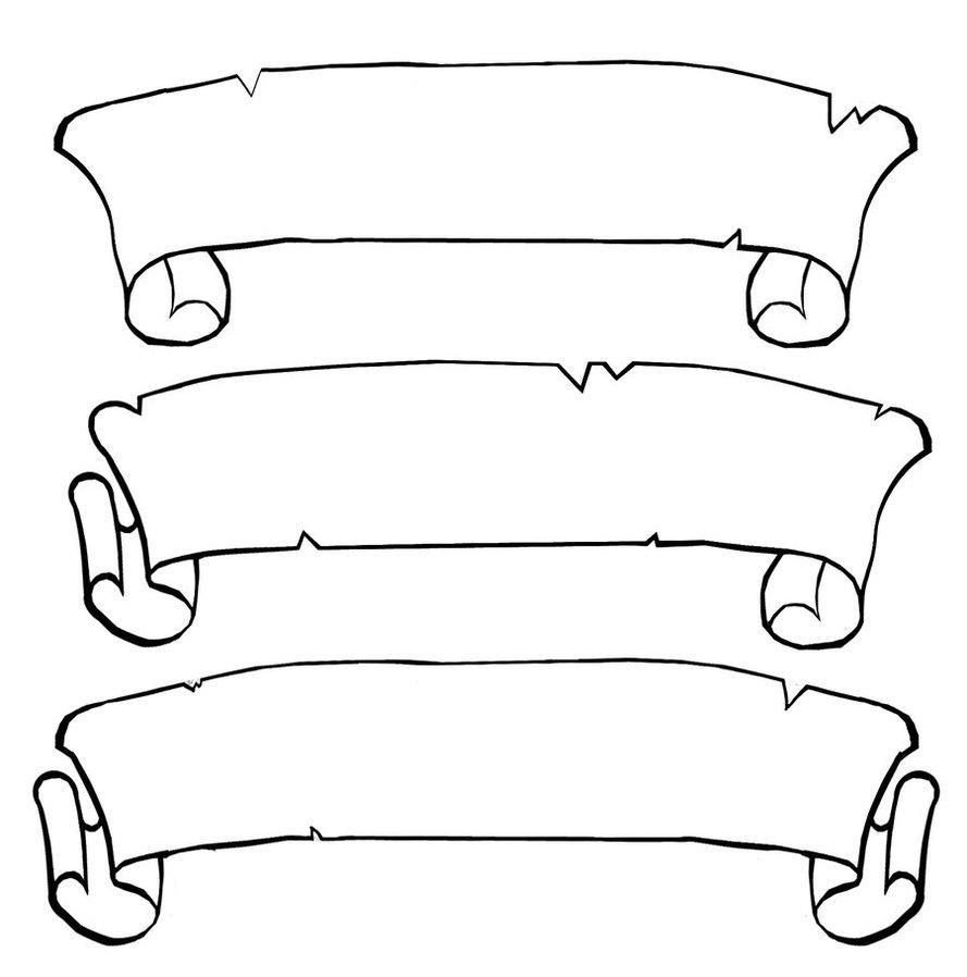 hight resolution of scroll clip art 5