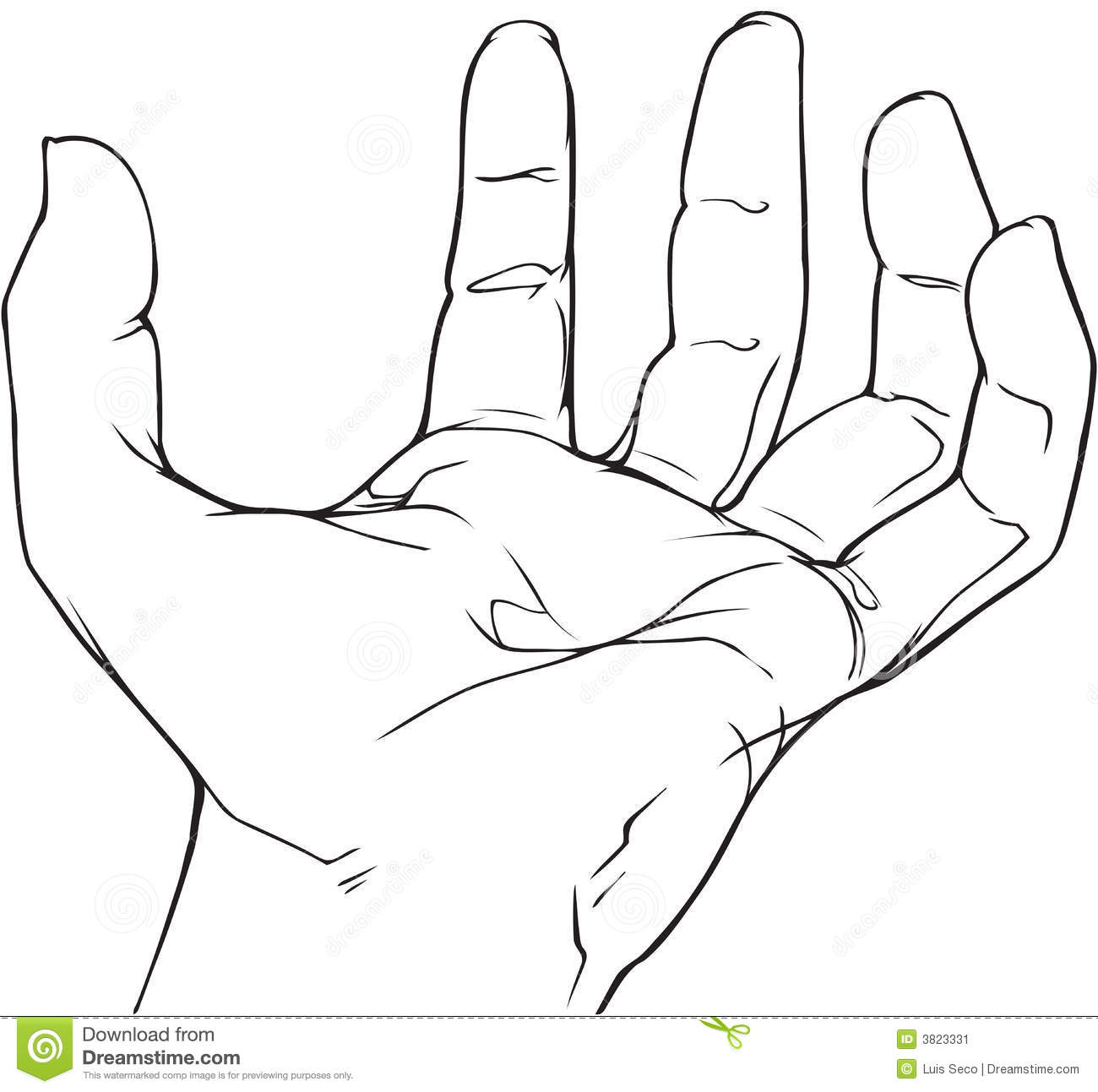 Hand outline 2
