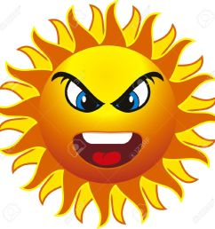 free angry sun clipart [ 1300 x 1300 Pixel ]