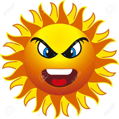 small resolution of free angry sun clipart