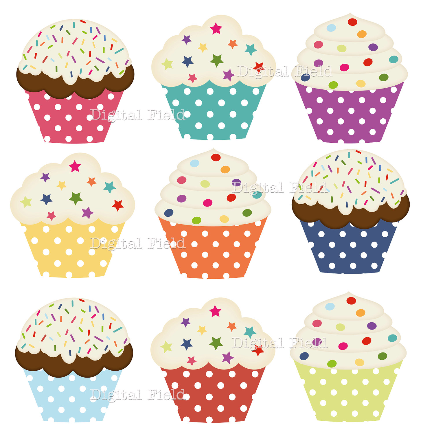 hight resolution of printable cupcake clipart