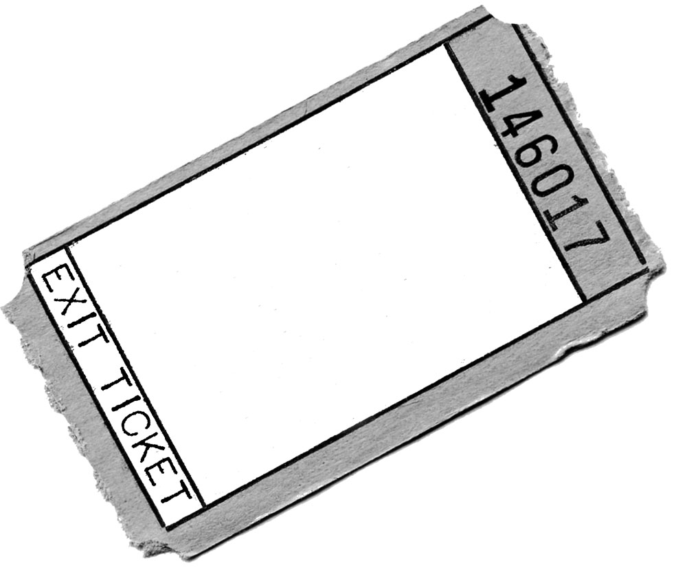 hight resolution of exit ticket clipart 3