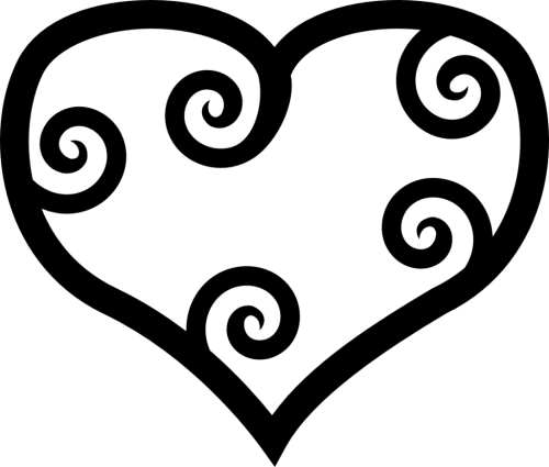 small resolution of heart black and white heart black and white heart clip art free clipart