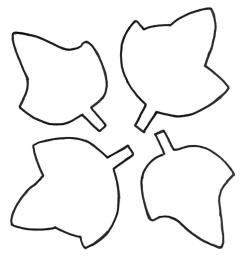 leaf outline clipart 4 [ 985 x 1094 Pixel ]