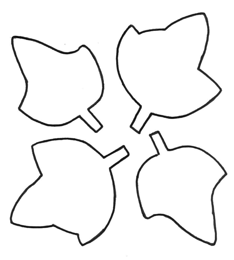 medium resolution of leaf outline clipart 4