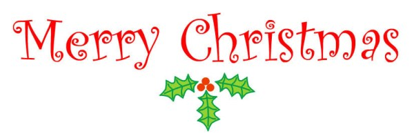 merry christmas clipart words