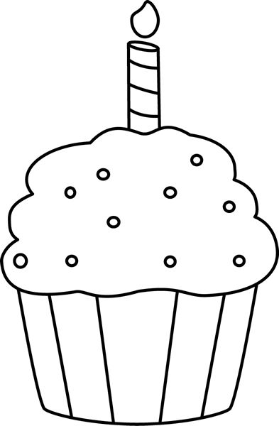 cupcake outline clipart