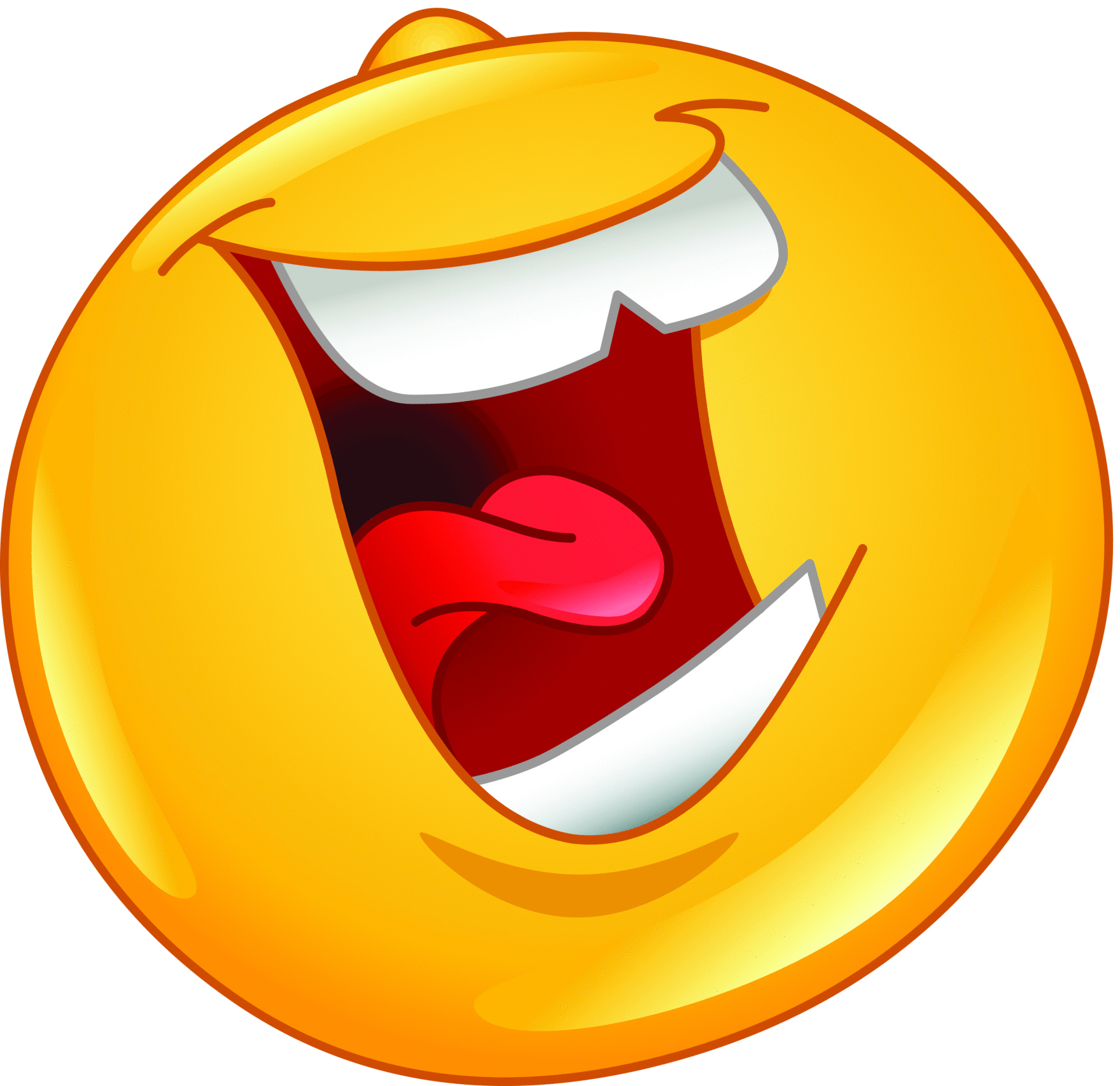 hight resolution of laughing hysterically clipart