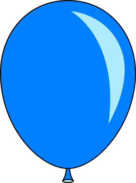 blue balloon clipart free