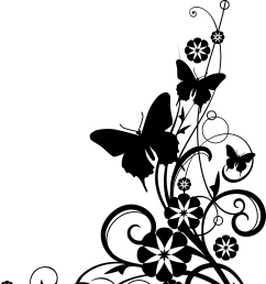 butterfly black and white black and white cross with butterfly clipart [ 2225 x 3300 Pixel ]