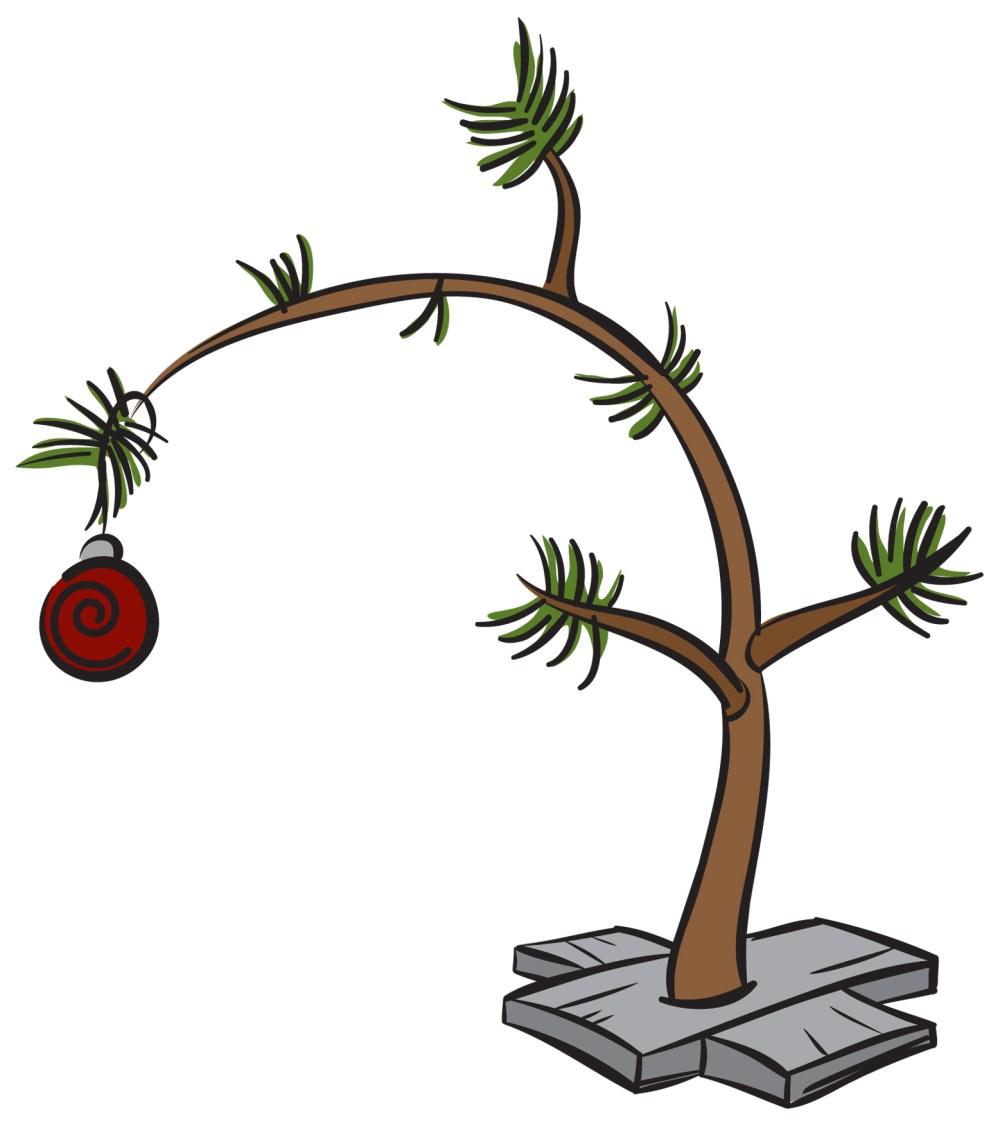 medium resolution of clip art charlie brown christmas tree free 11