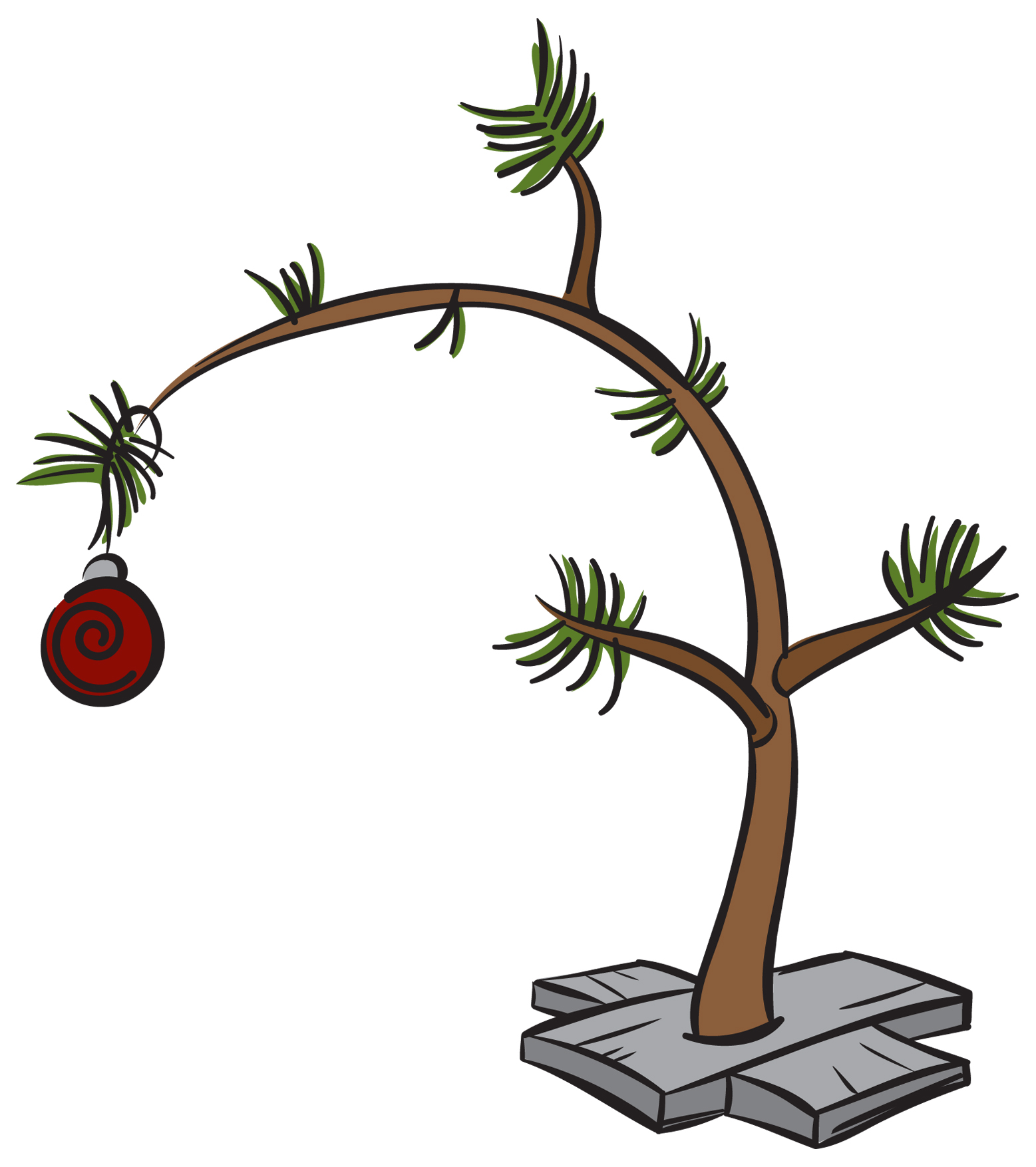 hight resolution of clip art charlie brown christmas tree free 11