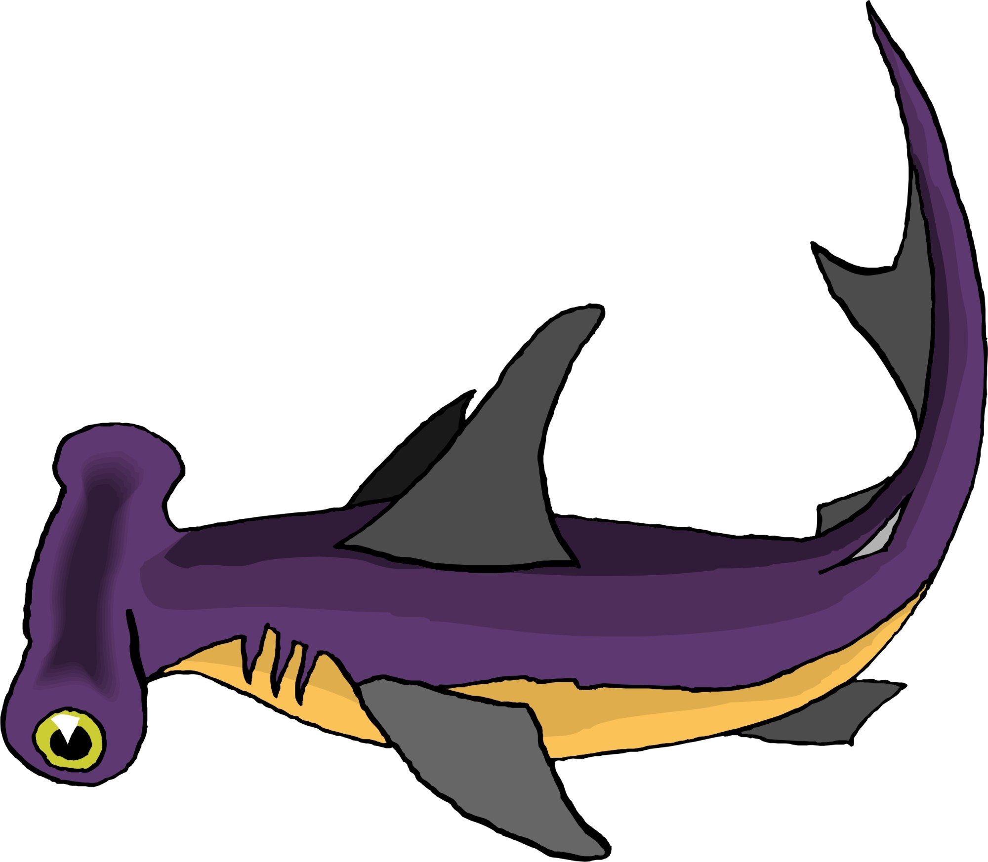 hight resolution of hammerhead shark clip art free clipart images