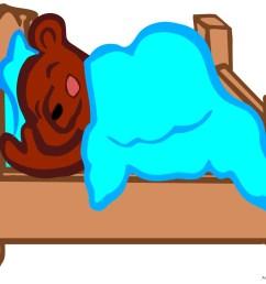 sleeping bear in bed clipart free design download [ 999 x 821 Pixel ]