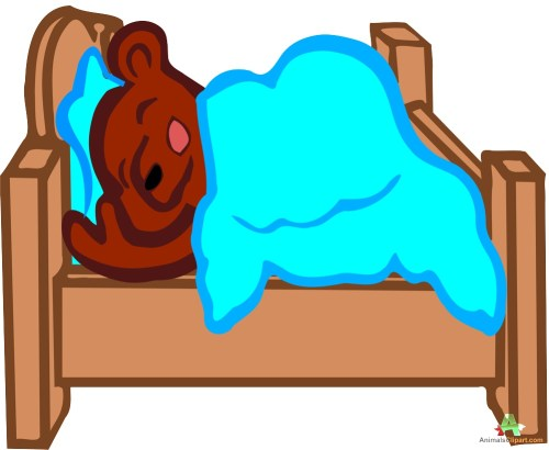 small resolution of sleeping bear in bed clipart free design download