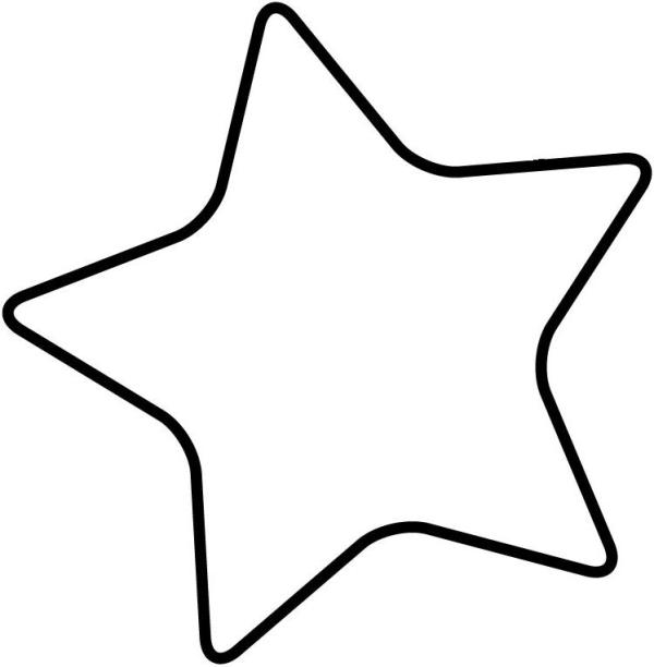 star outline template large