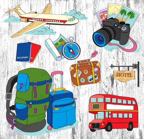 small resolution of 8 traveling clipart luggage passport airplane