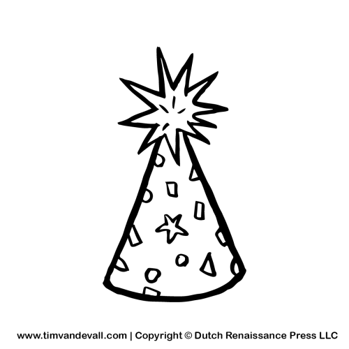small resolution of birthday hat clipart black and white free