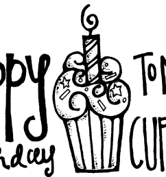happy birthday black and white happy birthday cake clipart black and white free [ 1357 x 773 Pixel ]