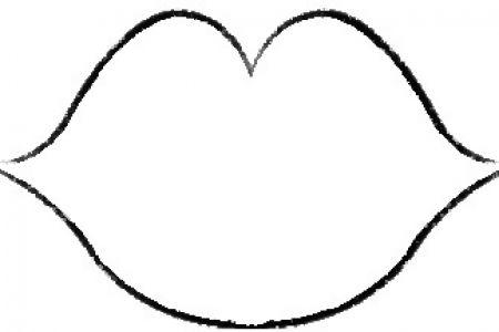 Lips black and white lips clip art template uk da