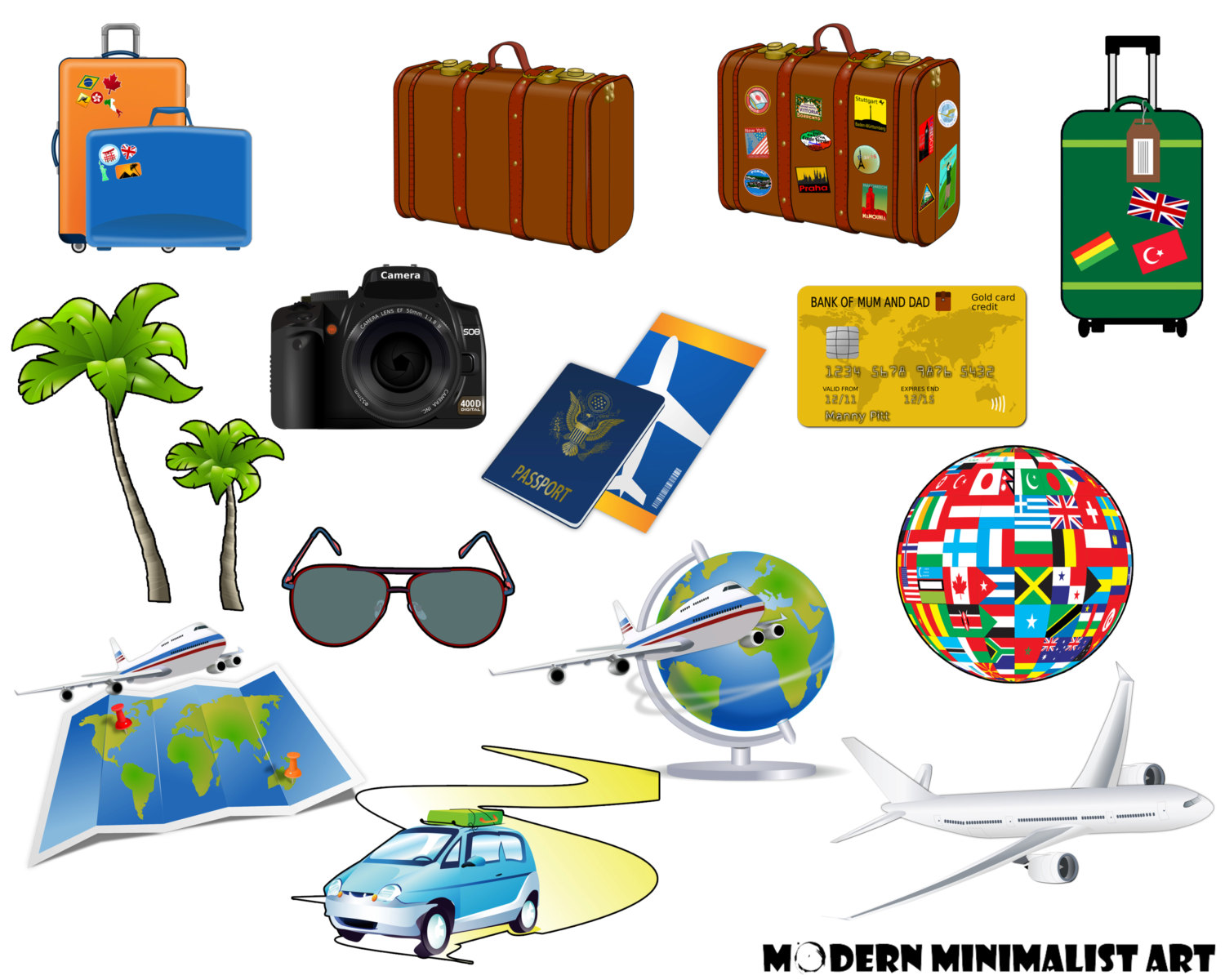 hight resolution of passport s travel clipart suitcase vacation