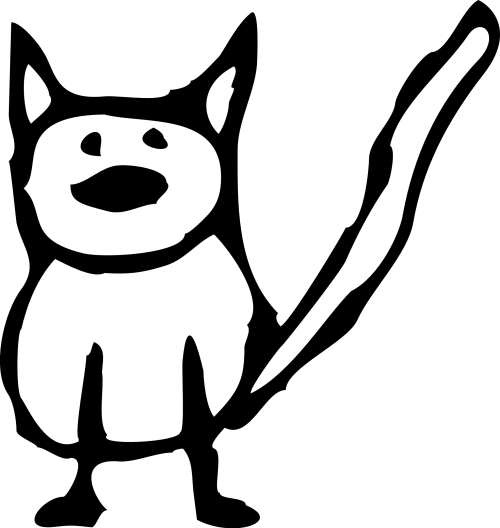 small resolution of cat black and white cartoon black cat free download clip art on