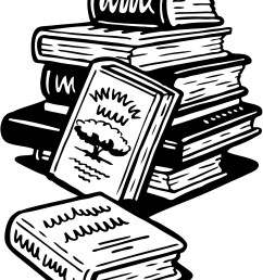 book black and white stack of books clipart [ 1296 x 1663 Pixel ]