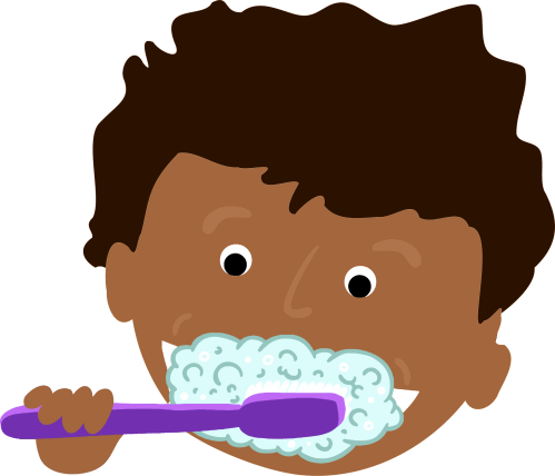 small resolution of brush teeth clipart african kid brushing teeth