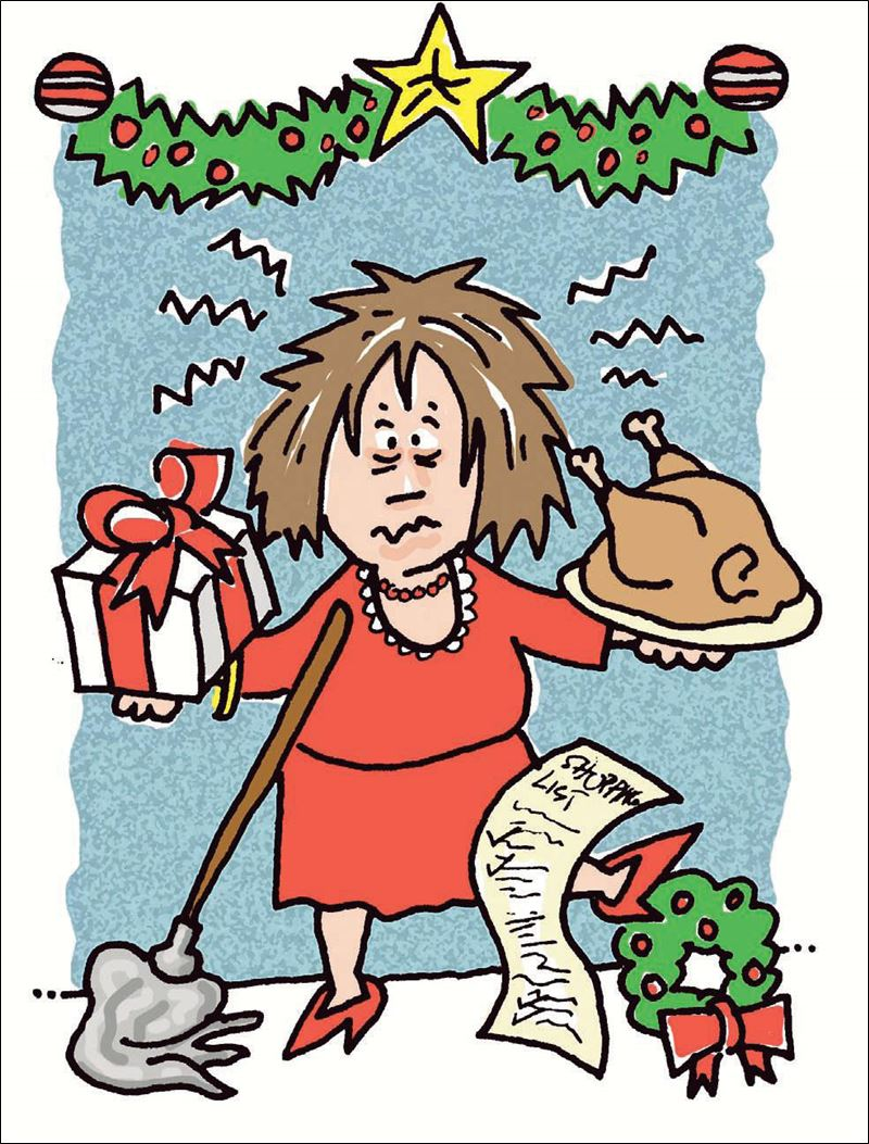 hight resolution of christmas stress clipart