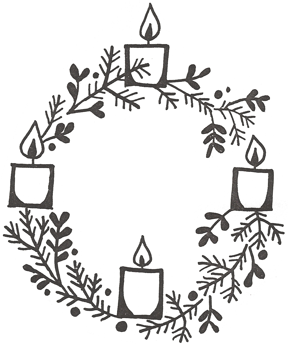 hight resolution of clipart advent wreath clip art