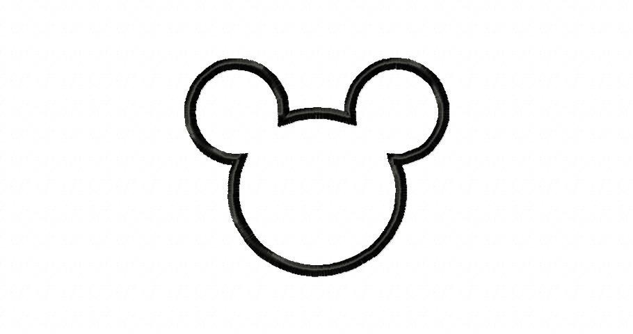 Mickey mouse head outline of mickey mouse free download