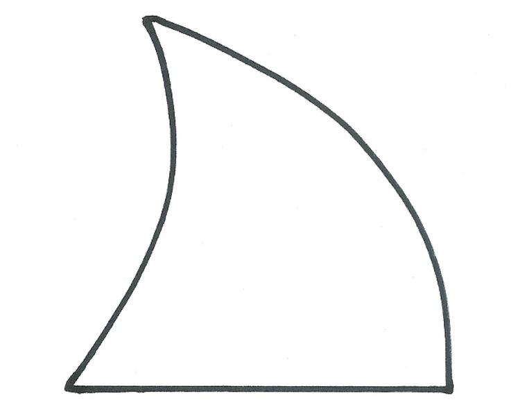 Shark fin shark week megalodon fin template love it