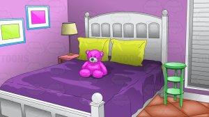 bedroom background clipart cartoon young vector bed purple toons clip cartoons teen cliparts vectortoons baamboozle gclipart library teddy under inside