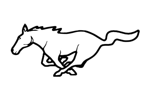 Ford mustang pony clip art