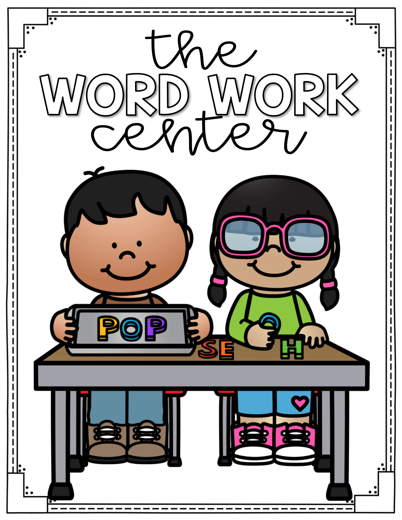 hight resolution of word work center labels for centers two free posters in the preview clip art