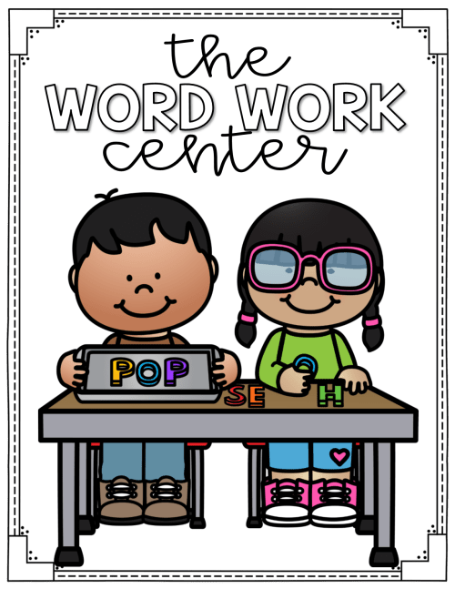 small resolution of word work center labels for centers two free posters in the preview clip art