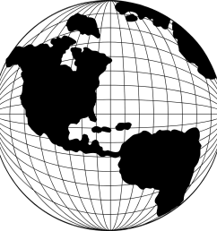 globe clipart globe map pencil and in color [ 958 x 955 Pixel ]