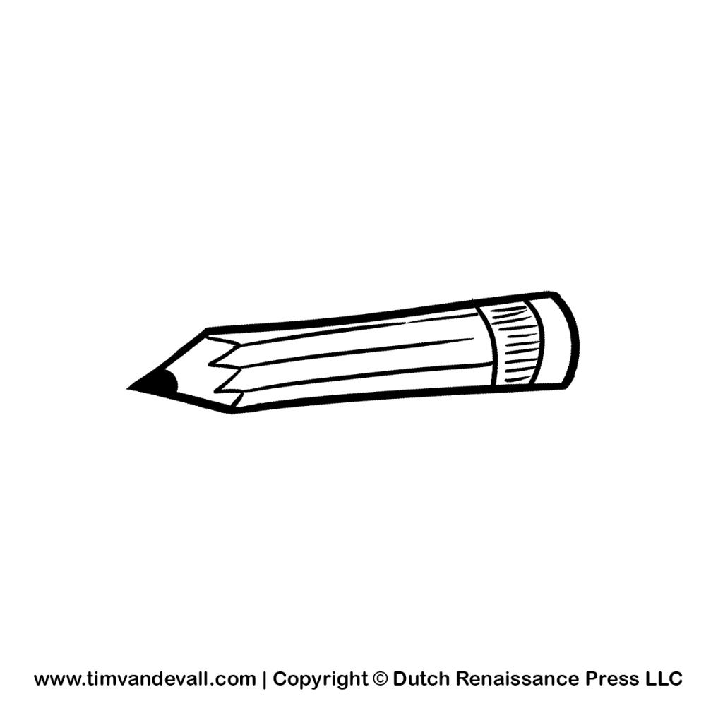medium resolution of pencil black and white cartoon pencil clipart