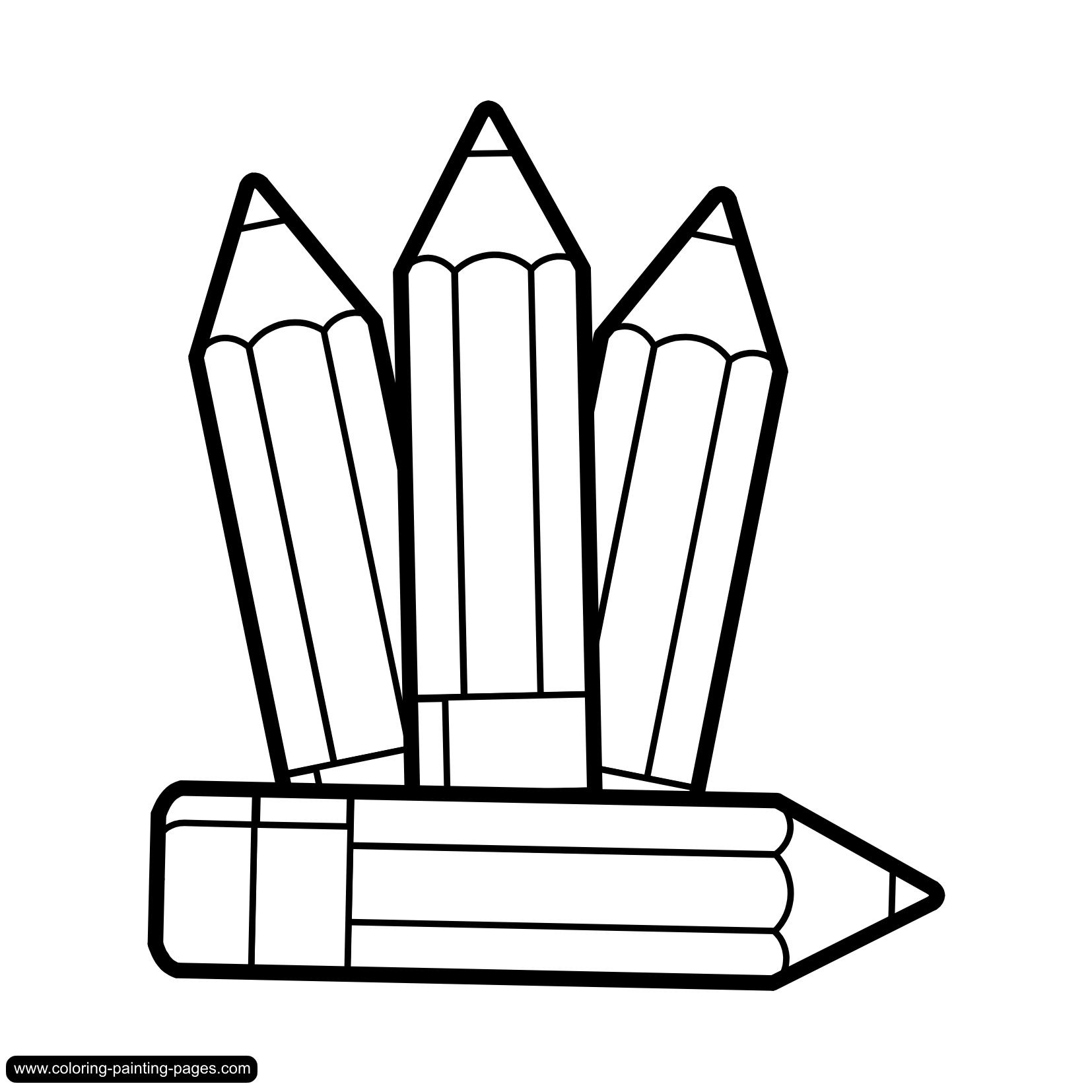 Pencil Black And White Marker Clipart Black And White