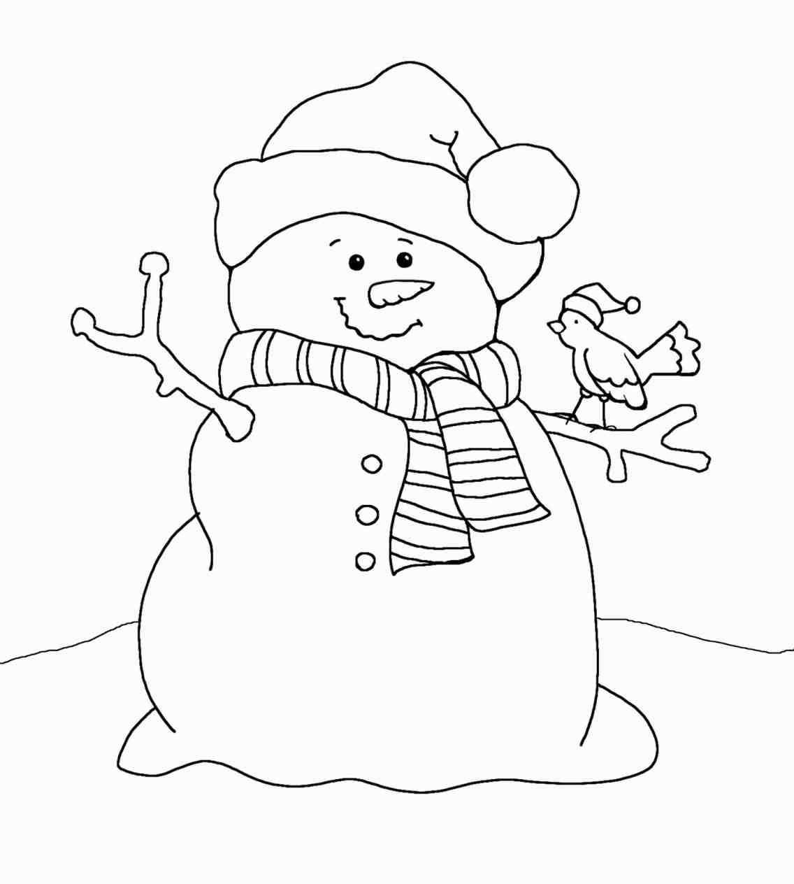 Snowman Black And White Christmas Snowman Clipart Black