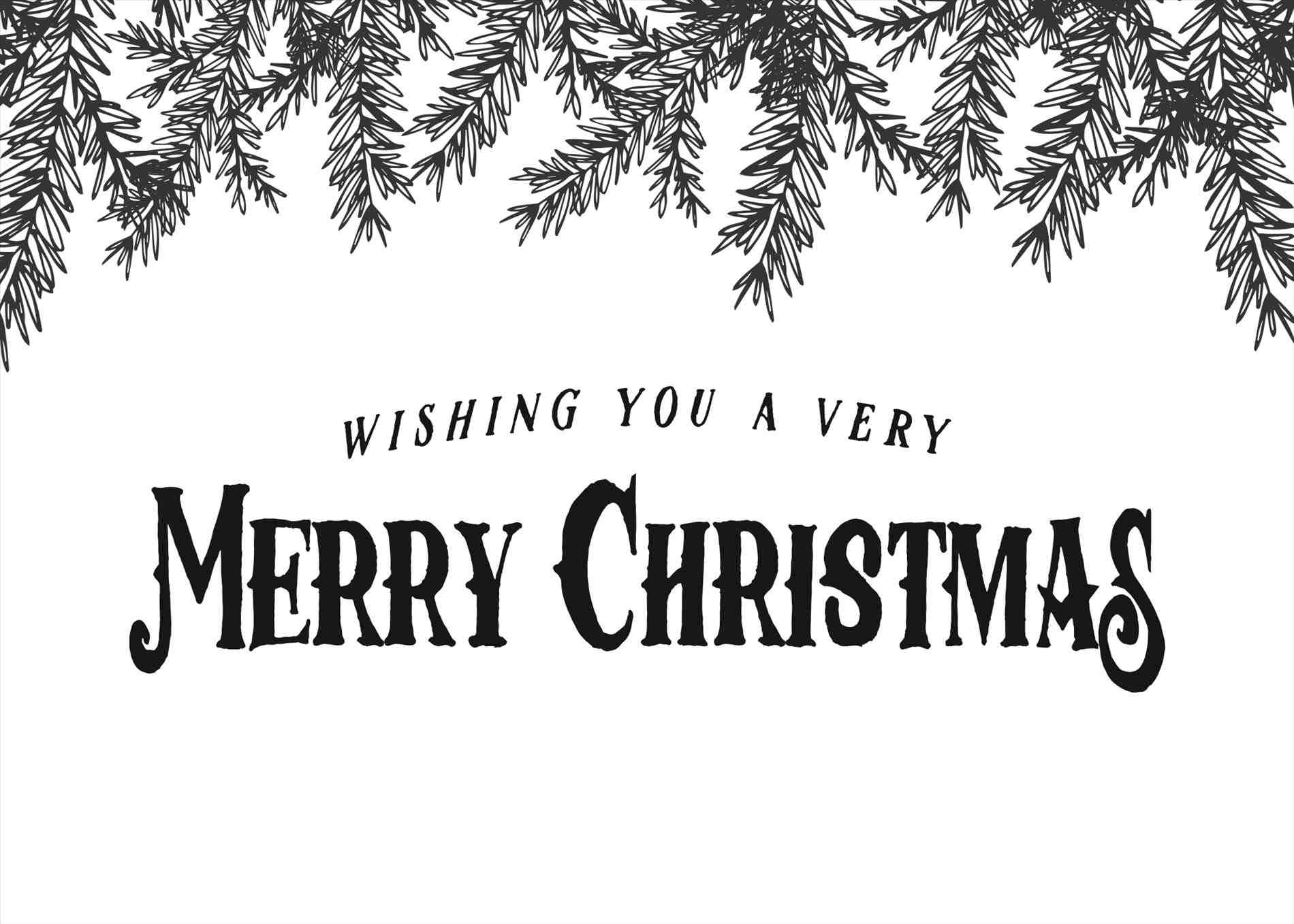 Merry Christmas Black And White Favorite Merry Christmas