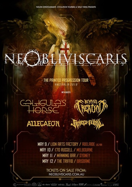 caligualrs horse tour with ne obliviscaris