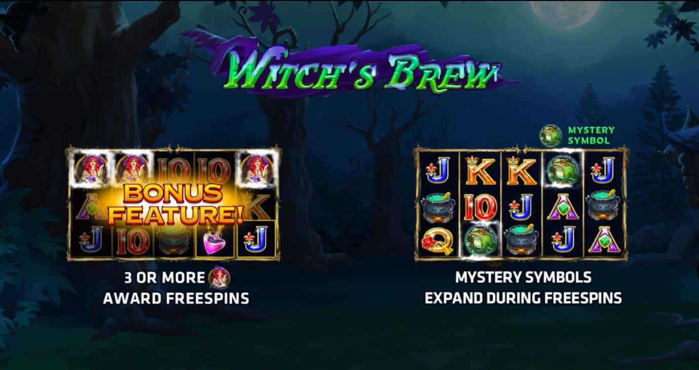 สัญลักษณ์ที่มีในเกม Witch's Brew เกมสล็อตแม่มด 2