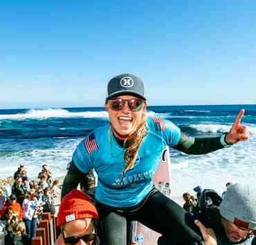 Lakey Peterson in the race after Margaret River Pro win