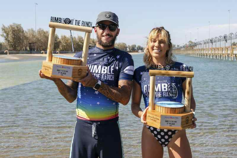Coco Ho and Filipe Toledo win Pure Gold Rumble at the Ranch